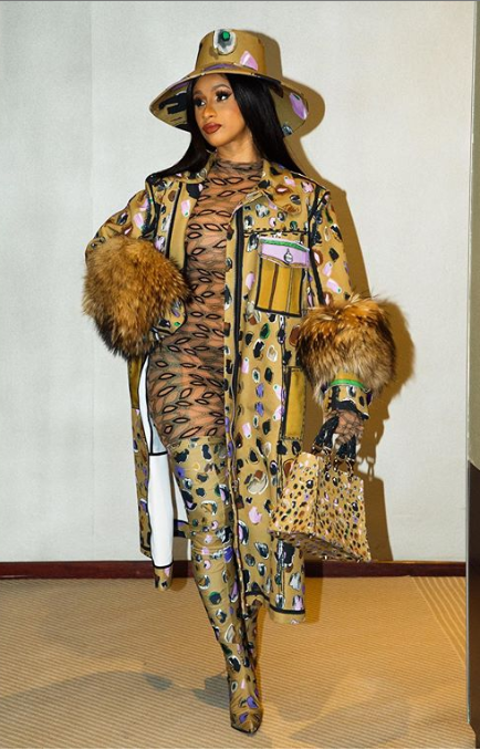 Cardi B's head-to-toe ensembles at Paris Fashion Week