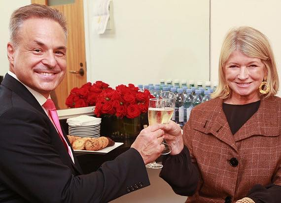Clint Arthur with Martha Stewart
