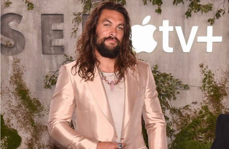Jason Momoa makes the case for a luxe rose gold suit