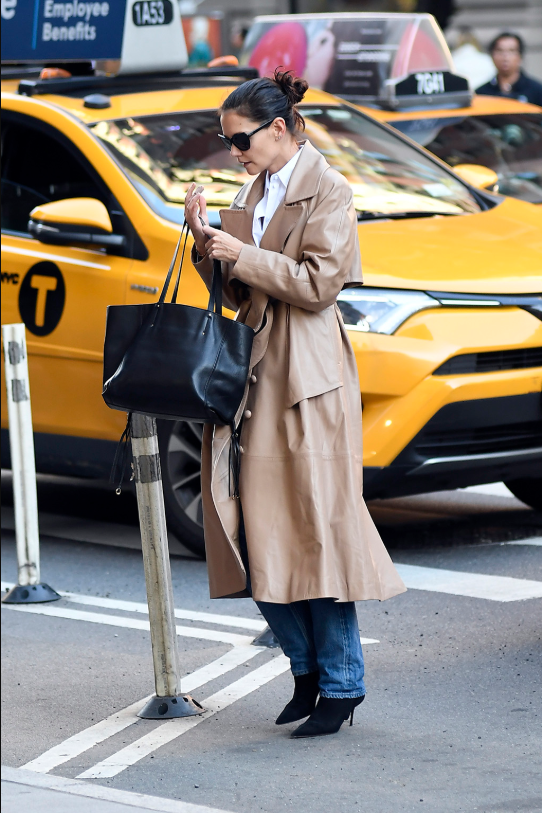 Katie Holmes is trench-coat chic in NYC