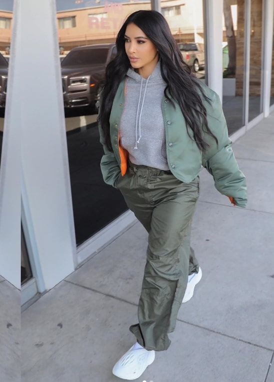 "Kim Kardashian goes for a stroll in Kanye West's Yeezy ""crocs"""