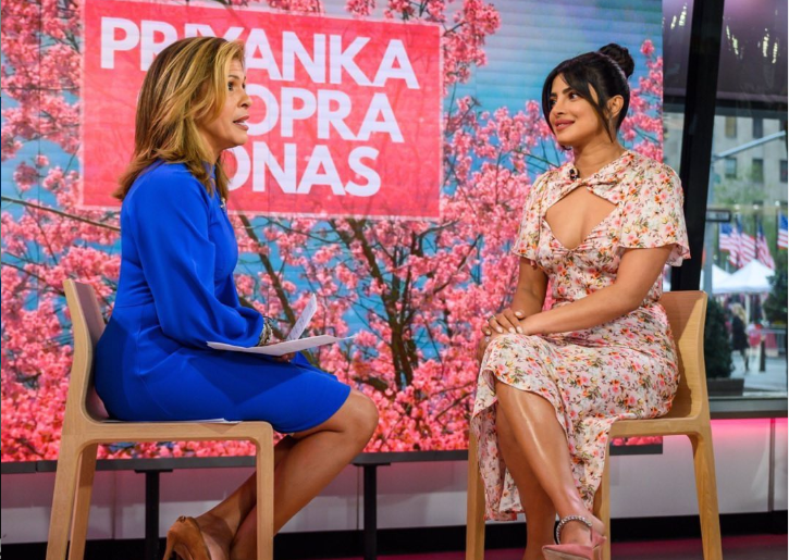 "Priyanka Chopra is pretty in pink for her ""Today"" appearance"