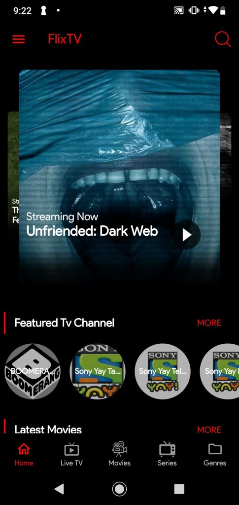 FlixTV APK streaming