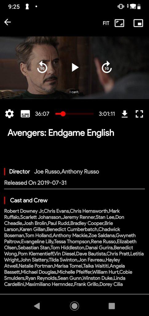 FlixTV APK avengers