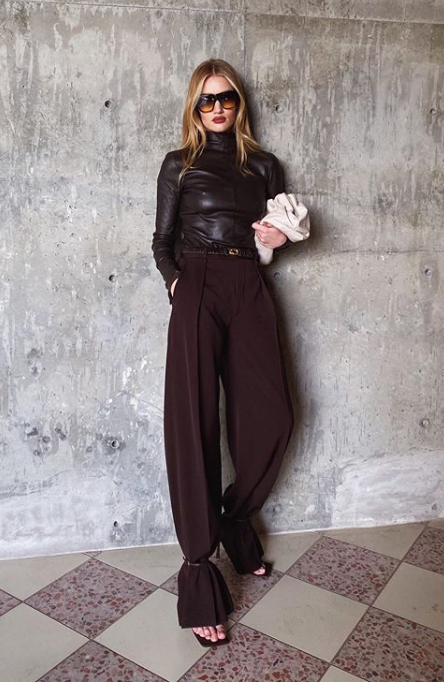 How to pull off casual glam ala Rosie Huntington-Whiteley