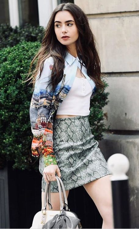 A lesson on layering with Lily Collins