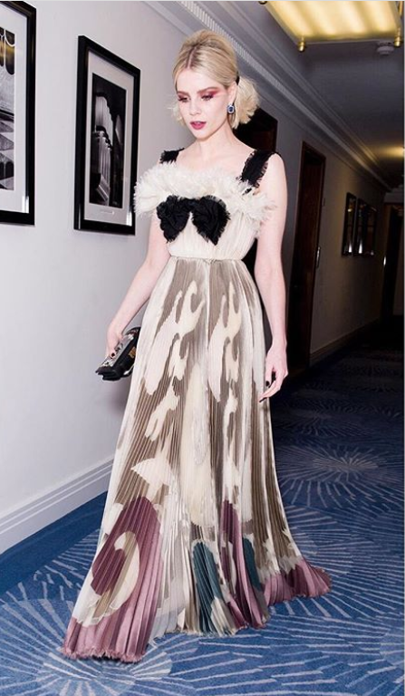 A look into Lucy Boynton's glamorous red carpet style