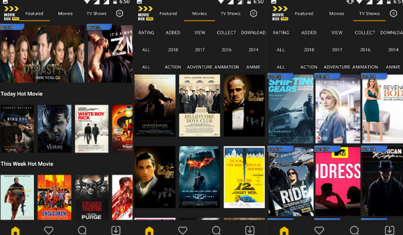 MovieBox android app