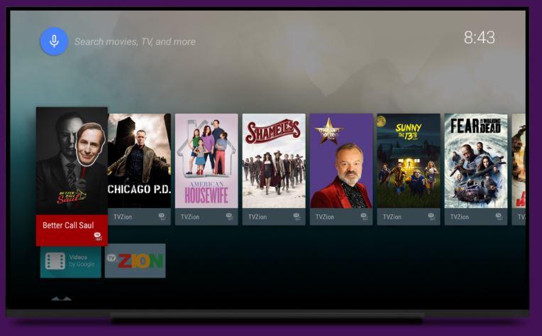 TVZion APK features