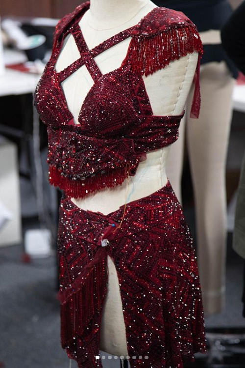 Inside details of Shakira's sultry red Superbowl LIV look