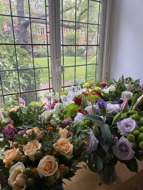 Cosmin Cernica received a large bunch of flower