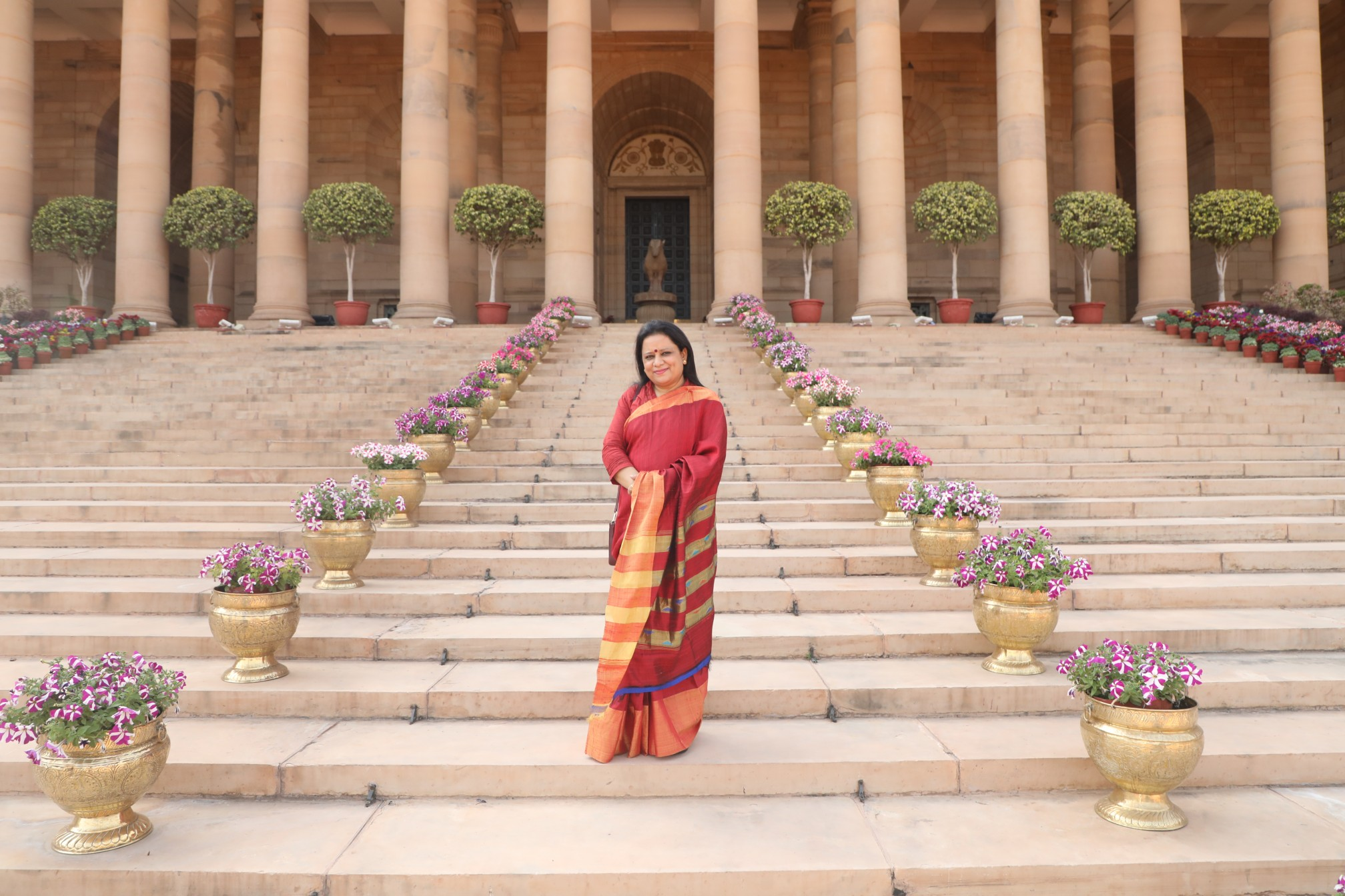 Abhijita Kulshrestha was invited to the Rashtrapati Bhawan-The President House in India on occasion of honouring exceptional women in India on the International Women's day 2021. Photo courtesy: Gemstoneuniverse