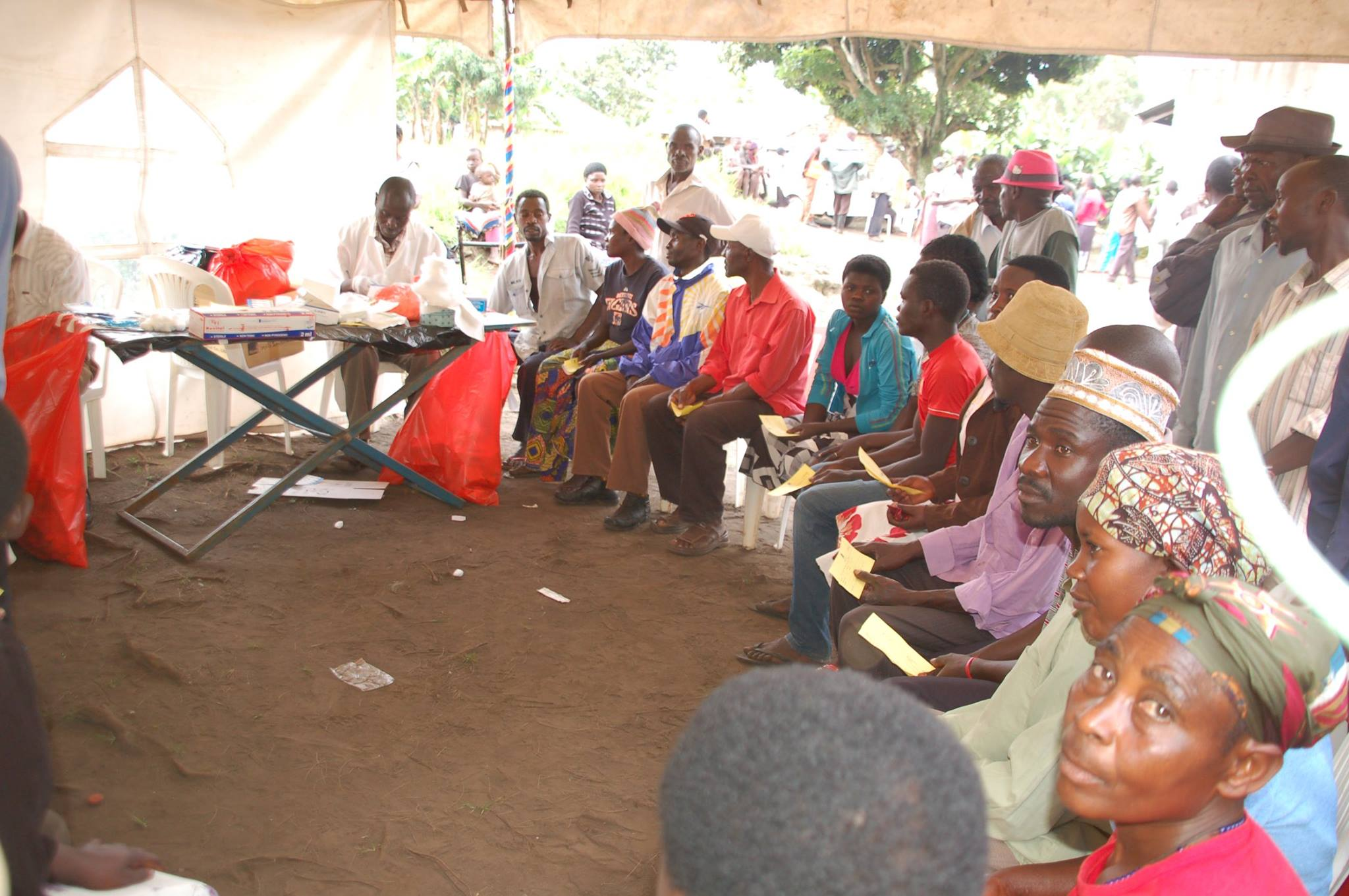 A Health Camp on HIV testing and Family Planning Services.